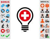 Icono de bombilla médica — Foto de Stock