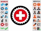 Medical Stamp Icon — Stock Photo