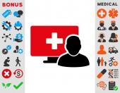 Online Medicine Icon — Stock Photo