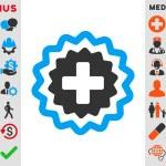Medical Cross Stamp Icon — Stock Photo #85459964