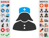 Nurse Icon — Stock Photo