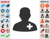 Medical Volunteer Icon — Stock Photo