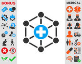 Medical Network Icon — Stock Photo
