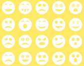 Smile and emotion icons — Stock Photo