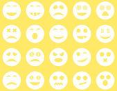 Iconos de la sonrisa y emoción — Foto de Stock