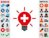 Lámpara médica icono — Vector de stock