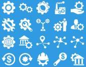 Ikony Narzędzia i ustawienia — Wektor stockowy