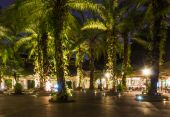 Decorative night lighting — Stock Photo