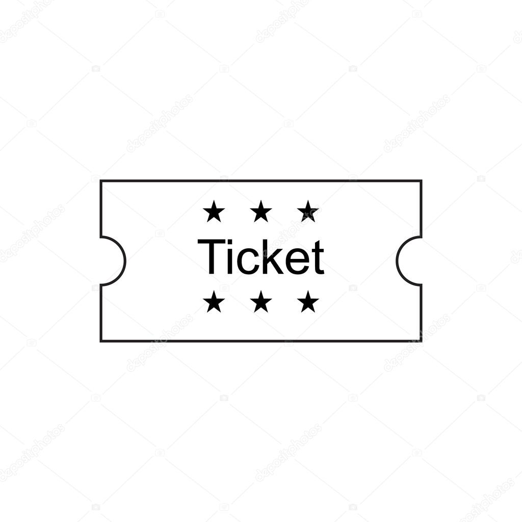 ticket outline icon stock vector copy fx  ticket outline icon stock vector 111074700