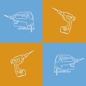 Pop art tools — Cтоковый вектор