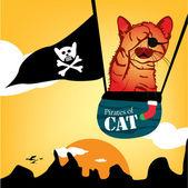 猫かわいい漫画 — ストックベクタ