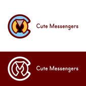 Circle Round logo template. — Stock Vector