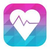 App Fitness Logo — Stock Vector