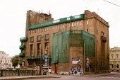 Building under restoration, Saint Petersburg — Stock Photo