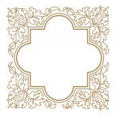 Vegetative ornament frame for book design and Heraldry. — Stock Vector