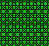 Skull and Bones Pattern — Stock Vector
