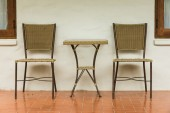 Outdoor chair outside room — Stock Photo