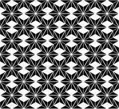 Black and white star seamless pattern — Stock Vector