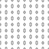 Seamless pattern with diamonds on white background — Stock Vector