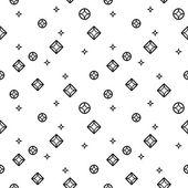 Diamonds black and white seamless pattern — Stock Vector
