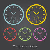 Set of simple clock icons. — Stock Vector