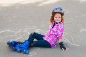 Child on roller skates — Stock Photo