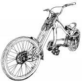Velo-bike — Stock Vector
