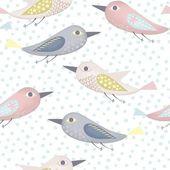 Fantastic birds pattern — Stock Vector