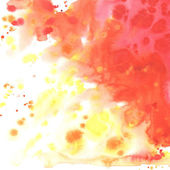 Abstract watercolor yellow orange red background. — Stock Photo