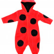Red rompers with a pattern ladybird. — Stock Photo #79862936