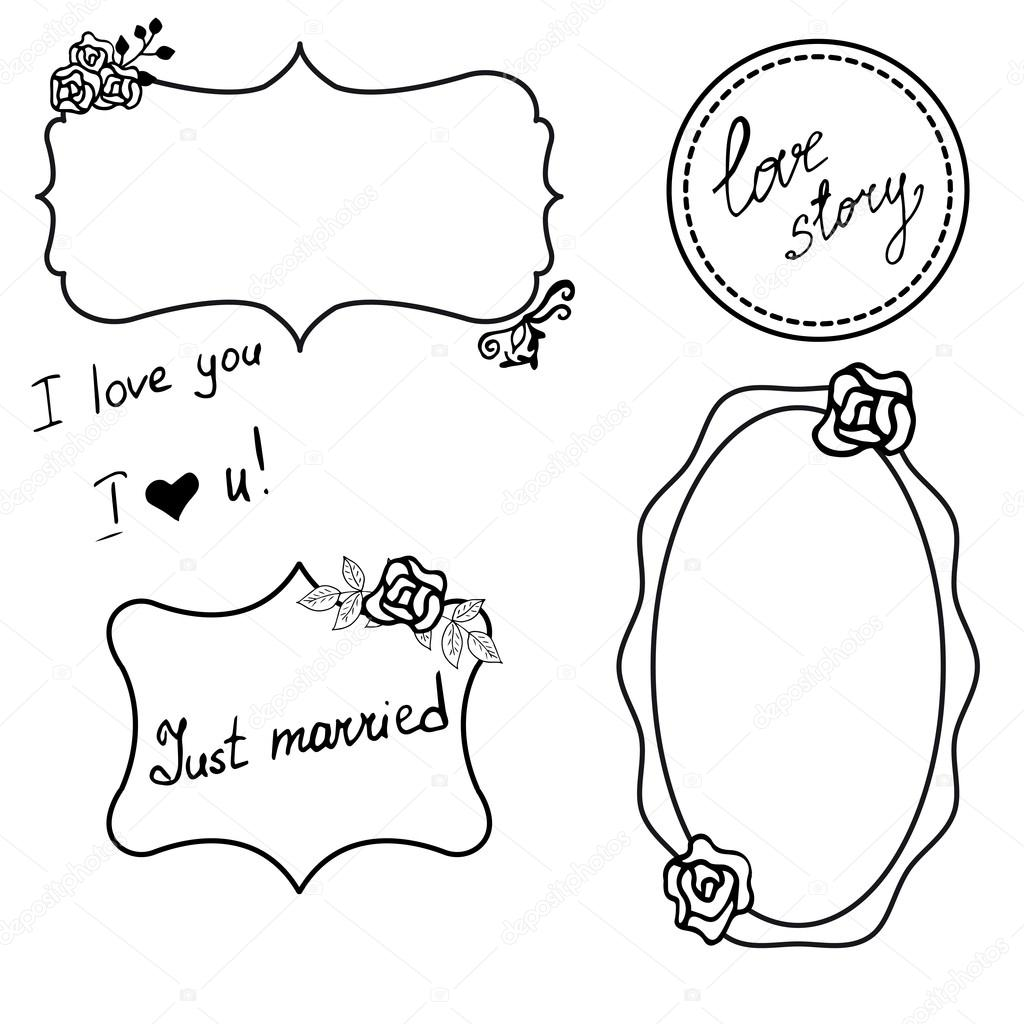 шаблон свадебных фото рамок