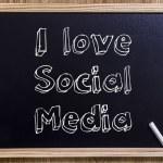 I love Social Media — Stock Photo #80592378
