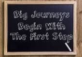 Big Journeys Begin With The First Step — Stock Photo
