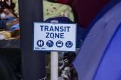 Transit zone board — Stock Photo
