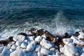 Winter sea coast — Stock Photo