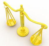 3d-schaal van gouden gewichtsconcept — Stockfoto
