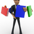 3d man with flying books around him concept — Stock Photo #78823330