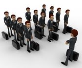 3d man addressing group of executives concept — Stock Photo