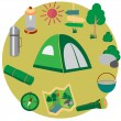 Vector icons for tourism. — Stock Vector #78467212