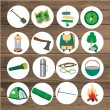 Vector icons for tourism. — Stock Vector #78467258