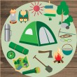 Vector icons for tourism. — Stock Vector #78467596
