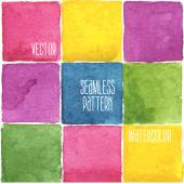 Watercolor background with squares — Stok Vektör