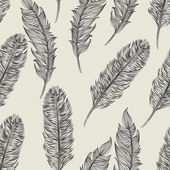 Seamless bird feathers pattern — Stock Vector