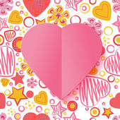 Valentine's Day Heart with Pattern — Stock Vector
