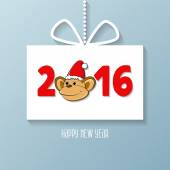 Cartoon monkey, New Year symbol — Stock Vector