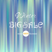 Winter Sale Abstract Banner — Stock Vector
