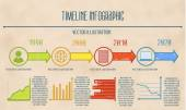 Timeline business Infographic template. — Stock Vector