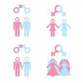 Gay marriage — Stock Vector