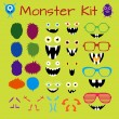 Monster and Character Creation Kit — Stock Vector #79066988