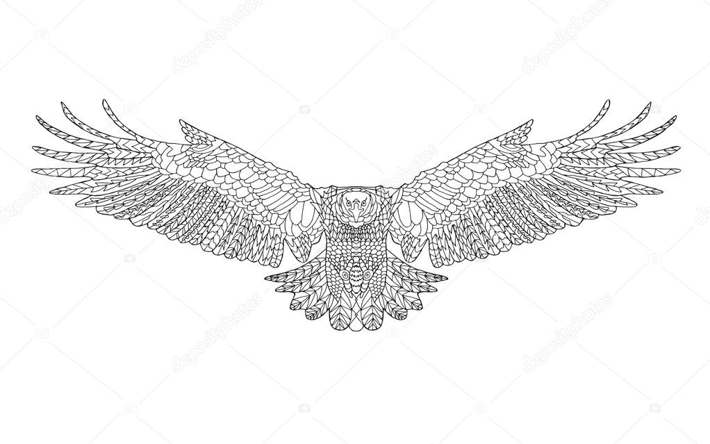 Indian eagle design